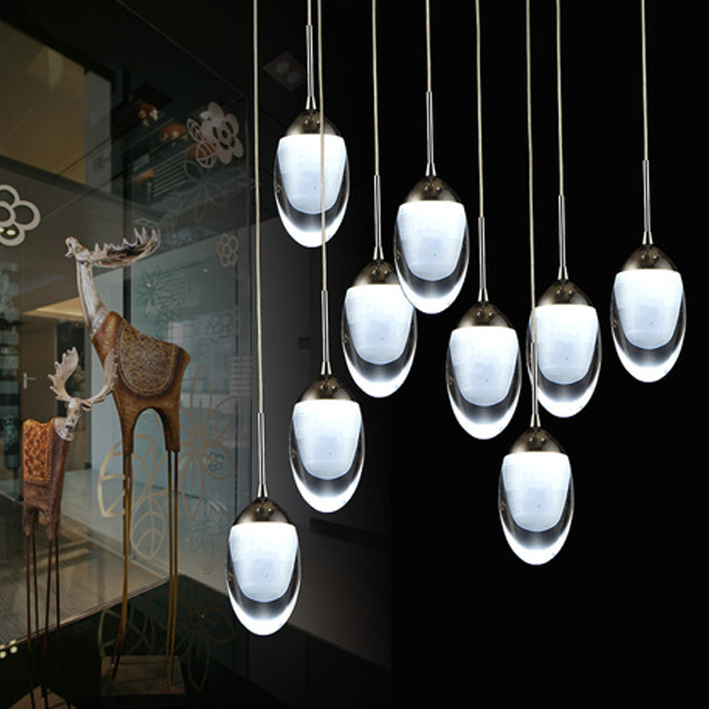 Moderne led lustre lumi res acrylique led pendentif for Lustre de salon moderne