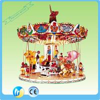 China indoor play game kids ride used carousel horse for sale