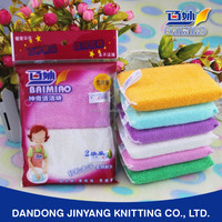 friction resistance bamboo or plant fiber deep cleansing direct manufacturer made kitchen cleaning sponge pad