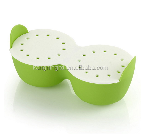 2 round 2 hearts Egg Cooker,New Egg Ring Silicone Egg Rings Non Stick Get Hard Boiled Eggs without the Egg Shell