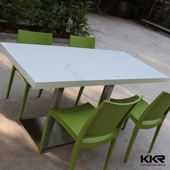 8 Seater Quartz Stone Top Dining TablesHotel Staff Dinning Sets