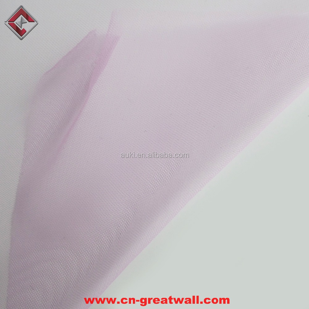 100% polyester 20D Swiss Mesh For Wedding Net Veil Tulle Bridal Fabric