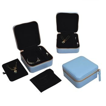 SJS0001 Leather Jewelry Box Wholesale Alibaba China Supplier,Bridal Jewelry Set Gift Packaging Box For Jewelry