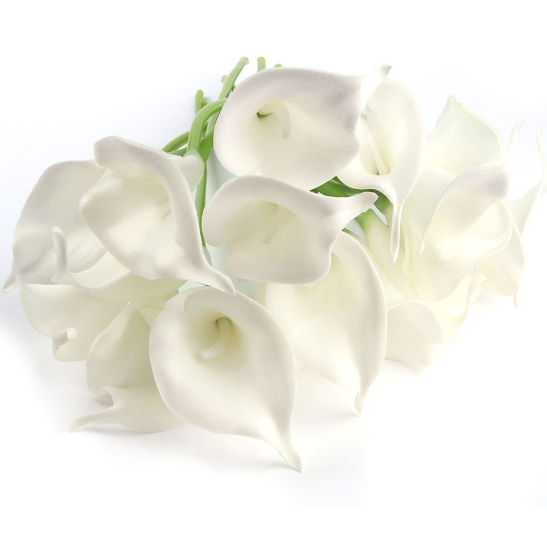 Cheap white lily flower bouquet find white lily flower bouquet get quotations uxcell artificial flowerscalla lily artificial flowers bridal wedding bouquet head pu real touch flower izmirmasajfo