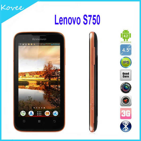 Lenovo S750 itel mobile phones 4.5 inchAndroid 4.2.1 Quad Core MTK6589 1.2Ghz 3G Smartphone Android Phone WiFi TV GPS IPS