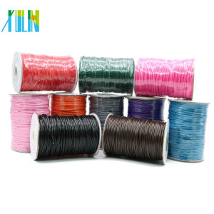 Manufacture Thin Korea Waxed Cotton Cord Without Stretch With Different Size And Colors From Stock XULIN Necklace Cord, ZYL0003