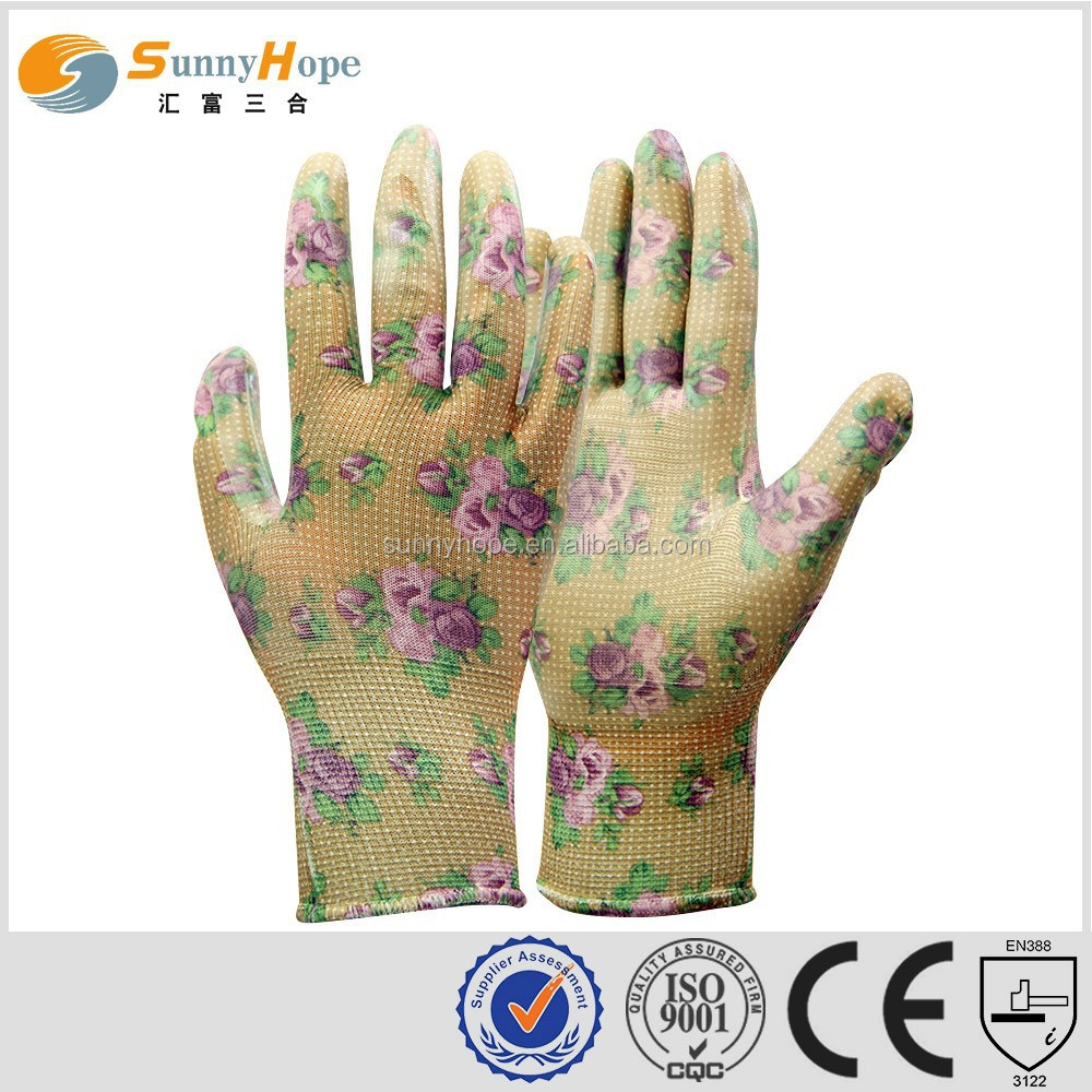 sunnyhope chip colored pattern nitirle utility gloves