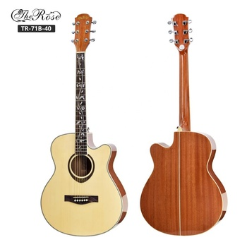 Wholesale 41 inch spruce top acoustic guitar with 6 guitar strings
