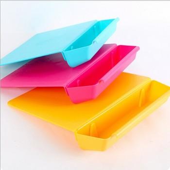 custom high quality pink plastic cutting board with draw/folding,