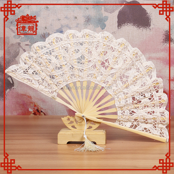 2018 Top Sale White Lace Wedding Hand Held Fan Wedding Invitation ...