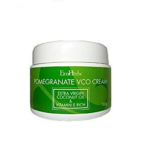 Ecoherbs Pomegranate Vco Cream For Hair Growth Loss Thinning Green 100g