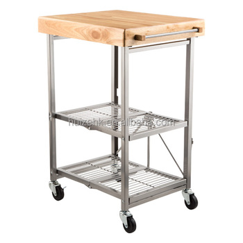 Origami Kitchen Moving Cart Chefs Cart Folding Storage Organizer