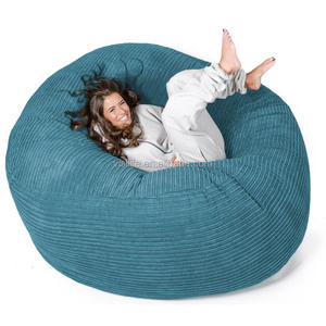 VISI 5ft/6ft/7ft/8FT Corduroy Lazy Boy Lounge Large Size Foam Bean bag XXL Bean Bag