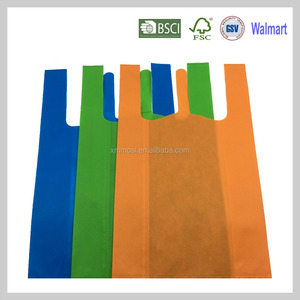 40gsm T-shirt ultrasonic shop plastic non woven d cut cheap tote bag