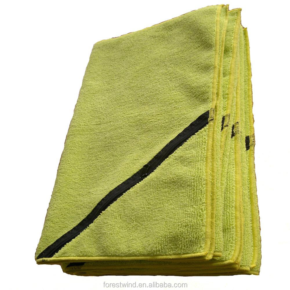 Cheap Microfiber Zipper Pocket Kids Sport Towel