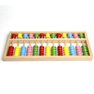 wholesale cheap high quality Chinese wooden soroban abacus colorful educational toys for kids
