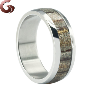 Color change stainless steel simple finger ring