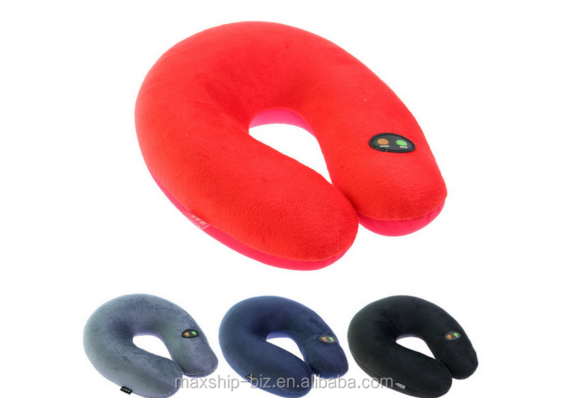 Battery Electric Super soft micro beads travel U shpe pillow