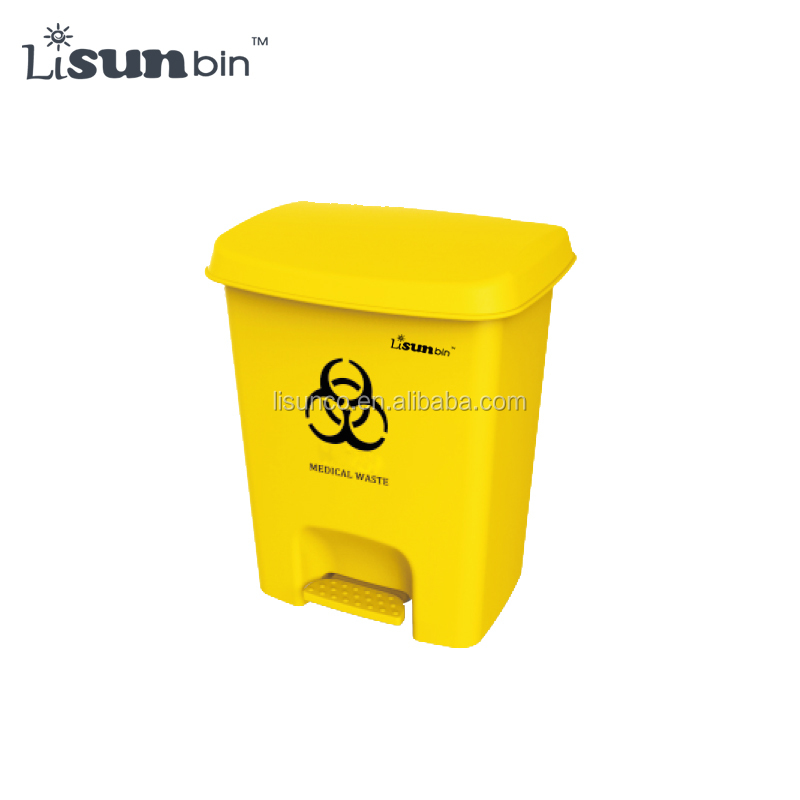 25L medical foot operated dustbin waste container with pedal