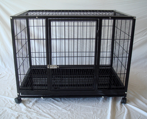 Heavy Duty Metal Dog Cage with Wheels