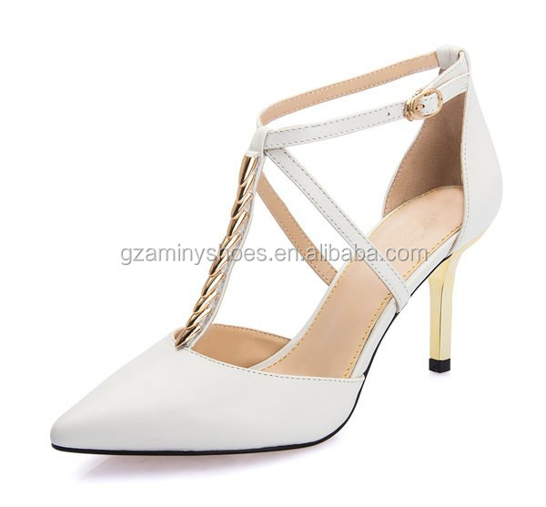 Latest Sexy High Heel 2015 Women OEM Leather Shoes Fashion Lady Dress Shoes
