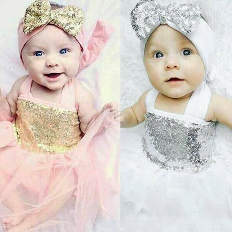 Baby Girl Princess Sequins font b Dress b font Toddler Baby Wedding font b Fancy b