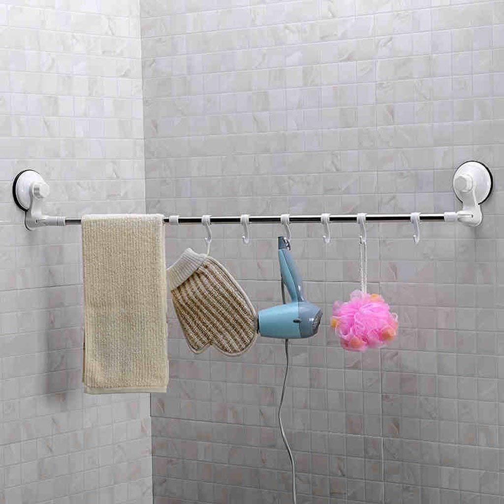 EQEQ Uus Retractable Strong of The Tub, Towel Racks, Towel Rails, Bathroom Towel Hooks with Unilateral Piston Rod - Free Distribution Bath Towel
