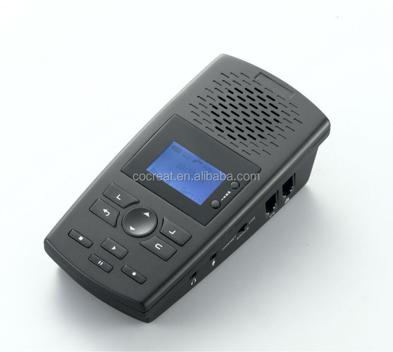 Single Line 8GB SD card telephone voice recorder, 560hours recording time, recording announcement