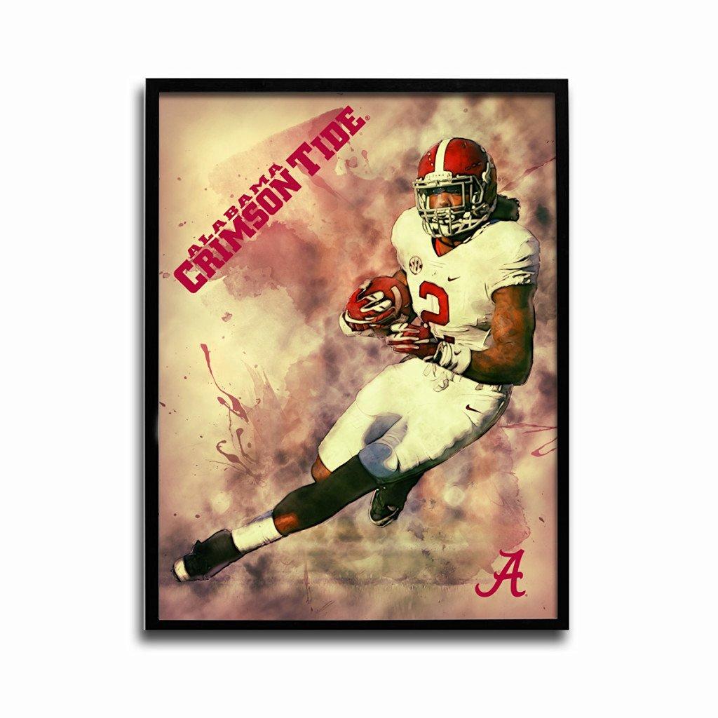 Alabama Crimson Tide Derrick Henry Crimson Rush 24x18 Football Poster Authentic Team Spirit Store Product