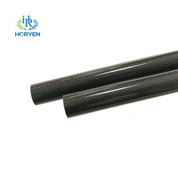 Light weight Carbon fiber tube 3K with Twill Plain woven fabric