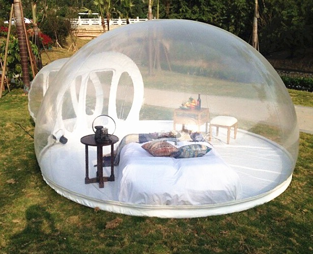 camping en plein air blanc igloo gonflable bulle. Black Bedroom Furniture Sets. Home Design Ideas