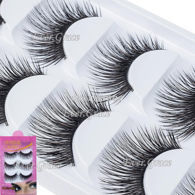b3e3d524248 ICYCHEER 5 Pairs Natural Soft Eye Lashes Makeup Handmade Thick Fake False  Eyelashes Black & Brown