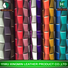 2015 New colorful Stereo Box transfer printing leather for luggage supplier