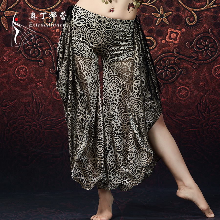 <strong>Tribal</strong> <strong>Belly</strong> Dancing Clothes Stripe Trousers Gypsy <strong>Dance</strong> Flared Trousers Women <strong>Belly</strong> <strong>Dance</strong> Swirl Printed Pants