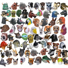 Hot Sellingl High Quality Latex Animal Head Mask Deluxe Halloween Costume Fancy Dress Realistic Rubber Animal Party Mask