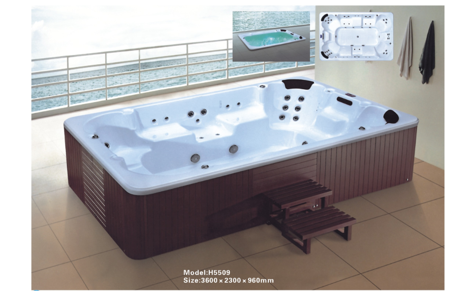 Factory 2018 Outdoor Whirlpool Massage Acrylic Spa Tub, View ...