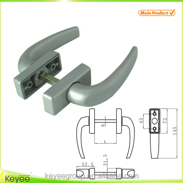 Aluminium door pull handle