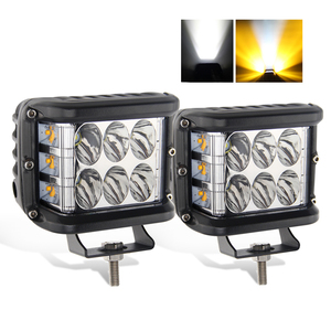 12V 24 Volt White Amber Red Blue Dual Color 36W Pods Offroad Strobe Flashing Truck Car Led Work Light