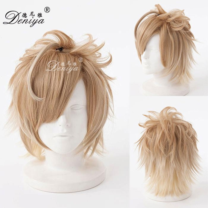 Hot 2016 New Men Vocaloid Kaito short Straight ANIME cosplay wig