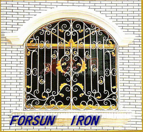 Decorative Security Wrought Iron Window Grill