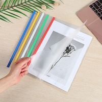 PP clear document cover slide bar report cover A4 plastic display book