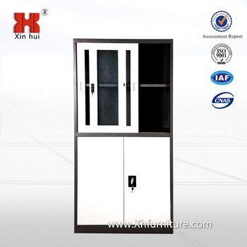 Half Glass Door Metal Office Furniture Metal Library Cabinets For Dubai  Kuwait Saudi Europe Metal Furniture Market - Buy File Cabinet,Glass Door  File