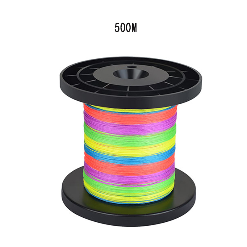 1pc 500m 1000m PE Braided 9 Strands Super Strong Fishing Lines Multi-filament Fish Rope Fishing Lines, Mixed color