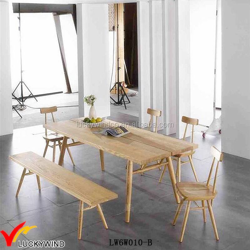 Retro Dining Room Set: Scandinavia Antique Retro Wooden Dining Room Table Set