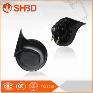 SHBD2 Pcs Black Universal 12v Loud Dual-tone Snail Electric Horn 110db for Car Truck