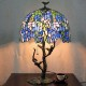 Traditional tiffany table lamp for wholesale with villa decoration