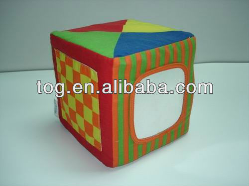TOG Baby Infant Soft Foam Brick Blocks Different Size with Mirror for Stacking Sorting Building
