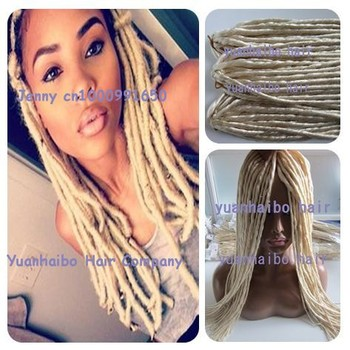Factory cheap price top quality 20 fold blond color 613 factory cheap price top quality 20quot fold blond color 613 synthetic braids dreadlock hair pmusecretfo Image collections