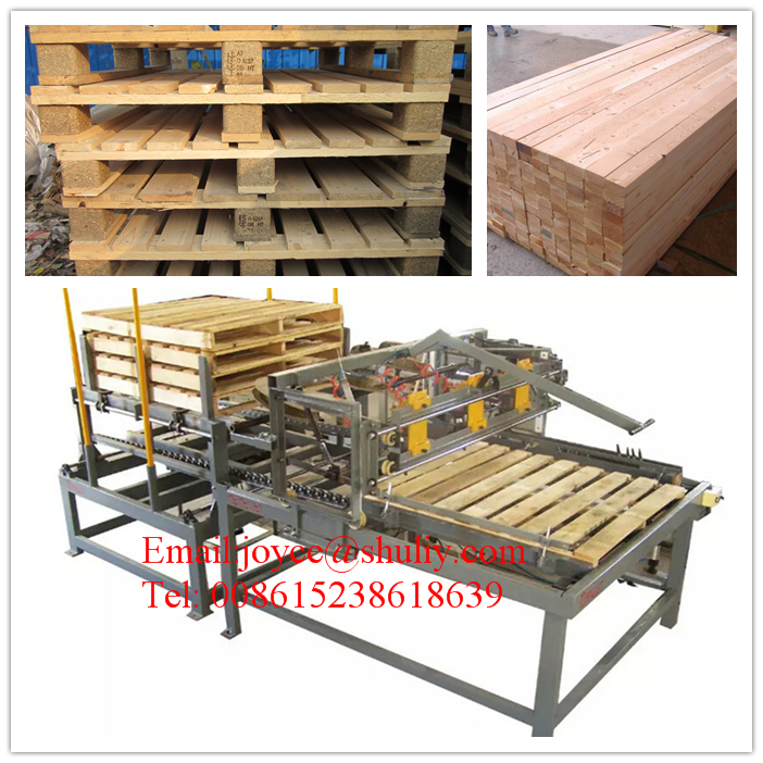 industrial Free fumigation Wood pallet nailing line / bamboo wood pallet nailing production line