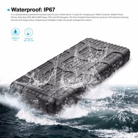 IFans 3 USB 7.2A output 20000mAh Waterproof & shockproof Power Bank with attractive LED indicator & unique outer shells